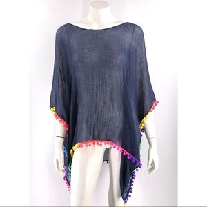 Echo Swimsuit Coverup Poncho One Size Multicolor